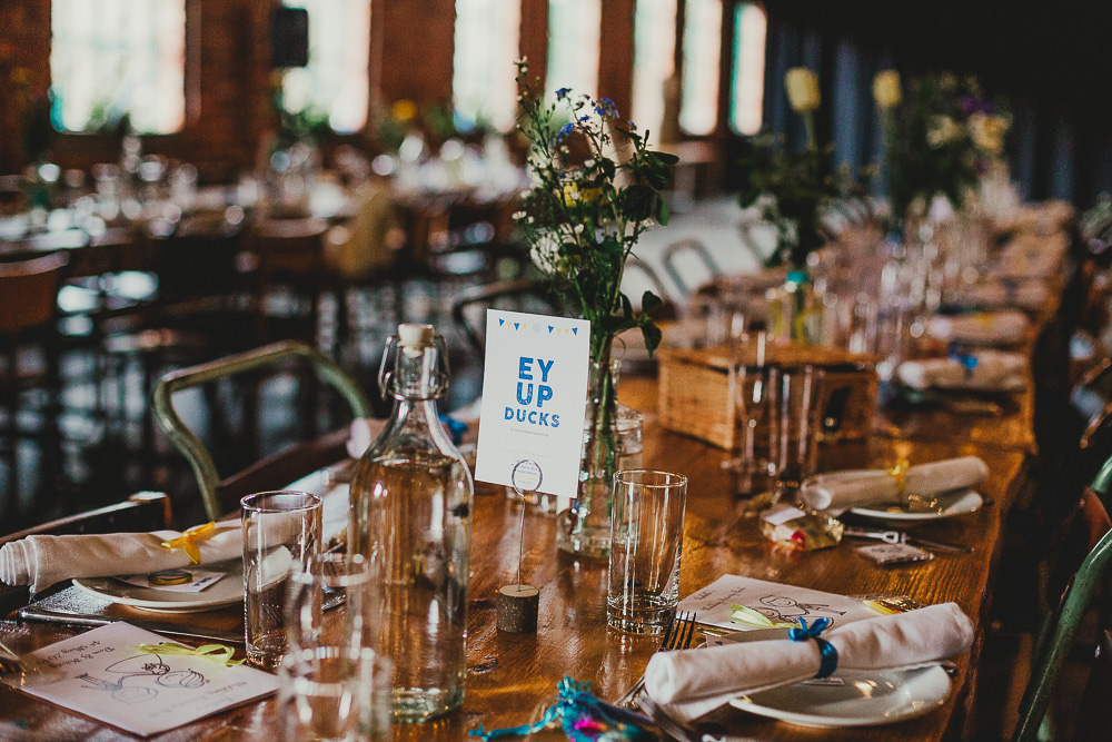 Table Names Numbers Decor Elsecar Heritage Centre Wedding Ayesha Photography