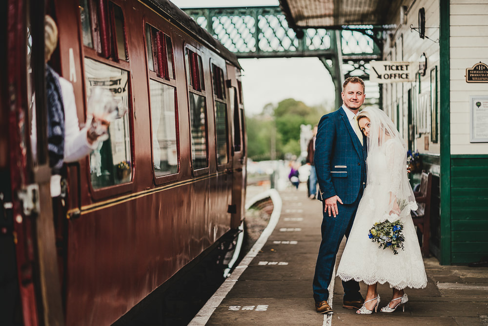 Steam Train Station Ride Elsecar Heritage Centre Wedding Ayesha Photography
