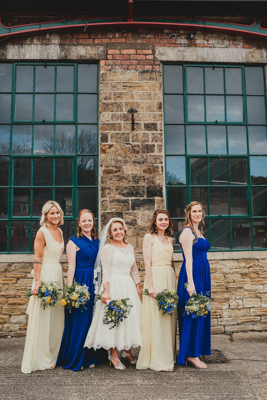 Bridesmaids Bridesmaid Dress Dresses Yellow Navy Elsecar Heritage Centre Wedding Ayesha Photography