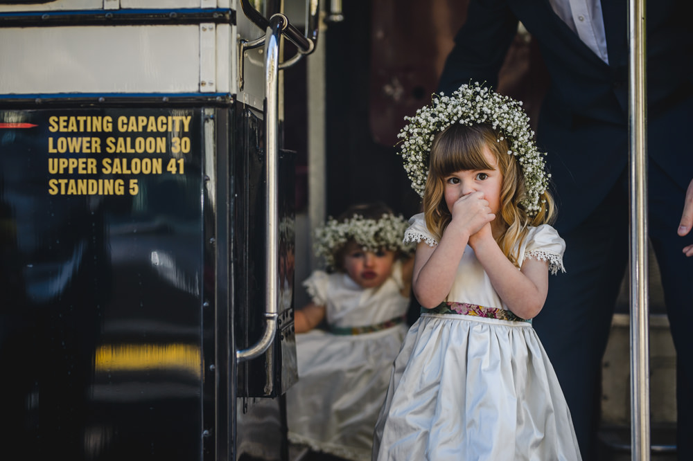 Flower Girl Floral Gypsophila Crown Hargate Hall Wedding Pixies in the Cellar