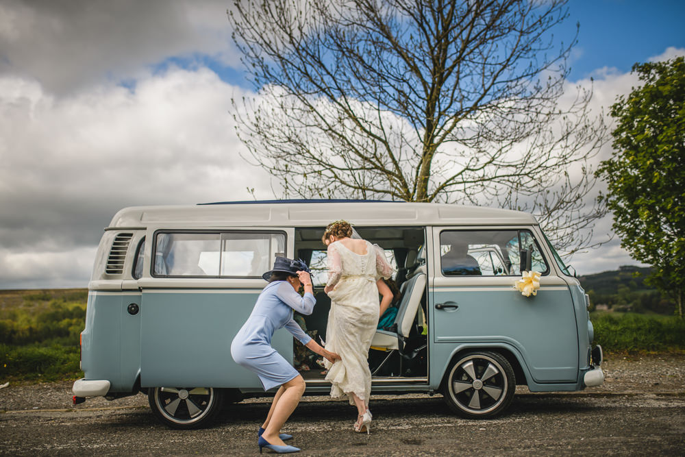 VW Camper Van Bridal Transport Hargate Hall Wedding Pixies in the Cellar