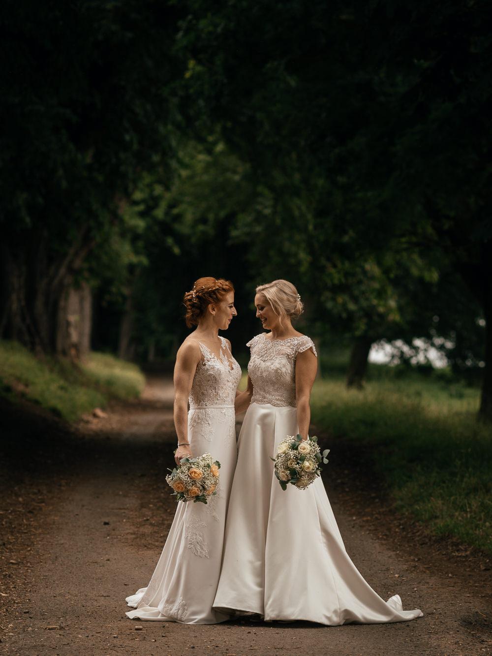 Bride Bridal Lace Embellished Dress Gown Cap Sleeve Halter Neck Mickleton Hills Farm Wedding Jules Barron Photography