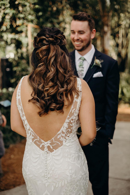 Bride Bridal Hair Style Up Do Waves Curls Plait Braid Halo Orlando Wedding Dani Nichol Photography