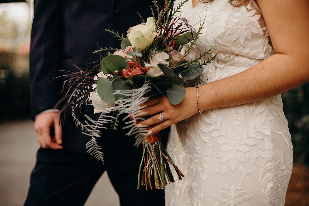 Bouquet Flowers Bride Bridal Protea Rose Orlando Wedding Dani Nichol Photography