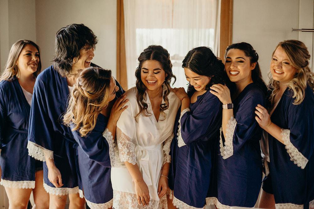 Bride Bridesmaids Robes Dressing Gowns Orlando Wedding Dani Nichol Photography