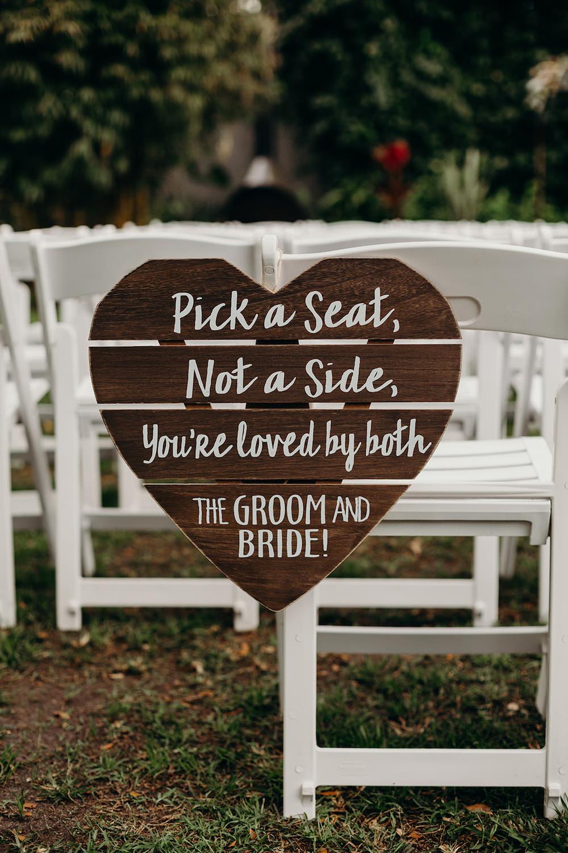Wooden Heart Sign Sigage Signs Ceremony Orlando Wedding Dani Nichol Photography