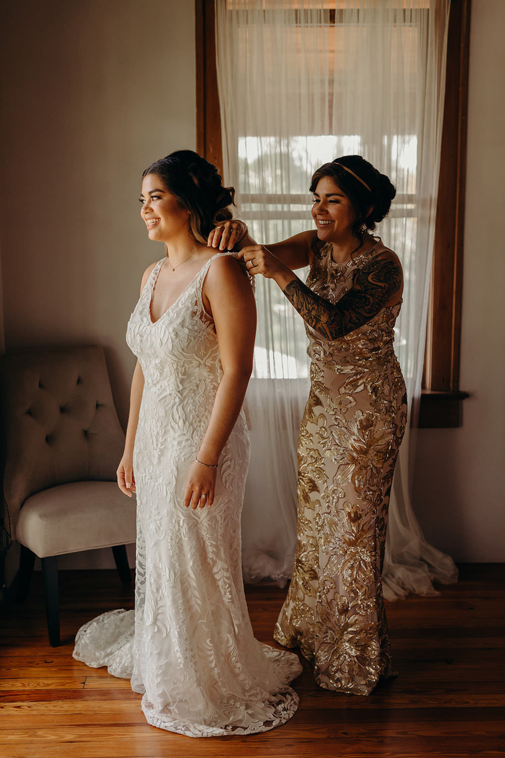 Bride Bridal Dress Gown Fit Flare Lace Willowby Watters Orlando Wedding Dani Nichol Photography