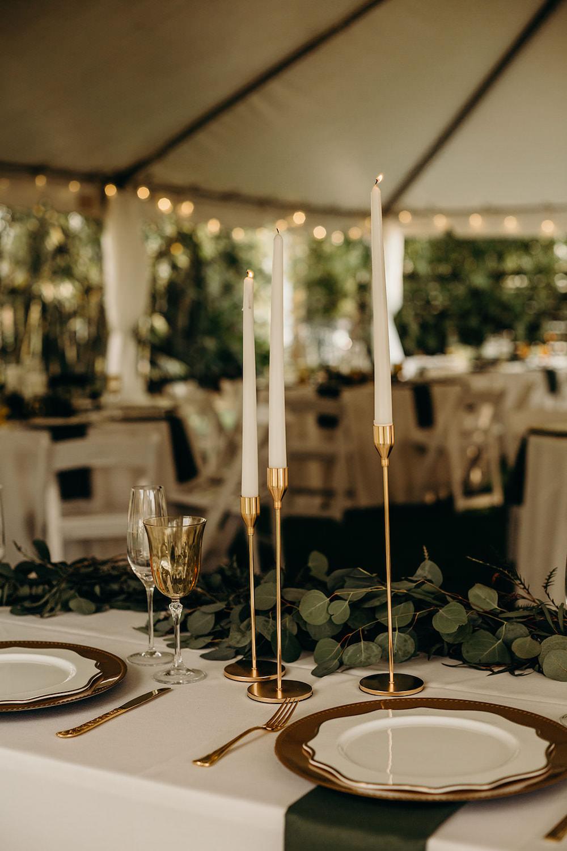 Gold Candlesticks Decor Decoration Orlando Wedding Dani Nichol Photography