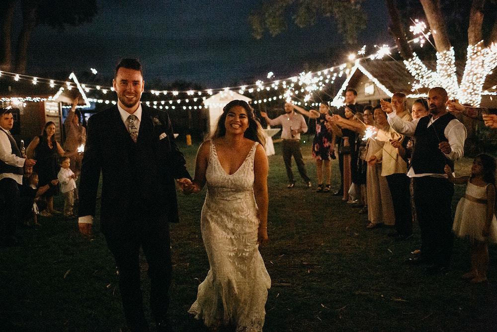 Sparklers Exit Send Off Orlando Wedding Dani Nichol Photography