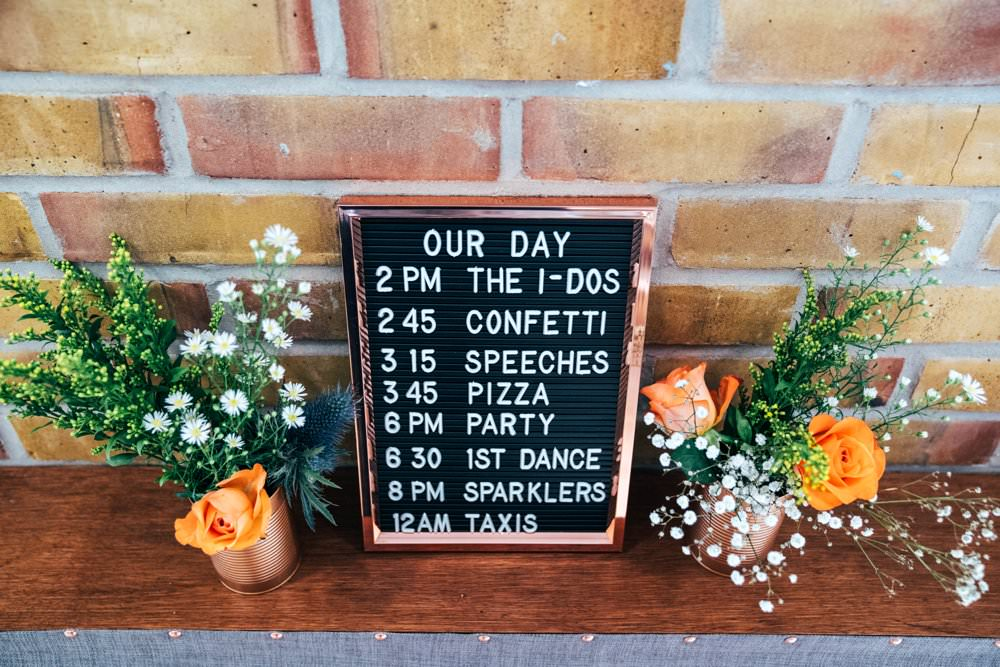 Peg Board Felt Sign Signage Signs Outdoor DIY Wedding Three Flowers Photography