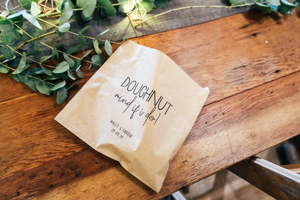 Donut Doughnut Bags Outdoor DIY Wedding Three Flowers Photography