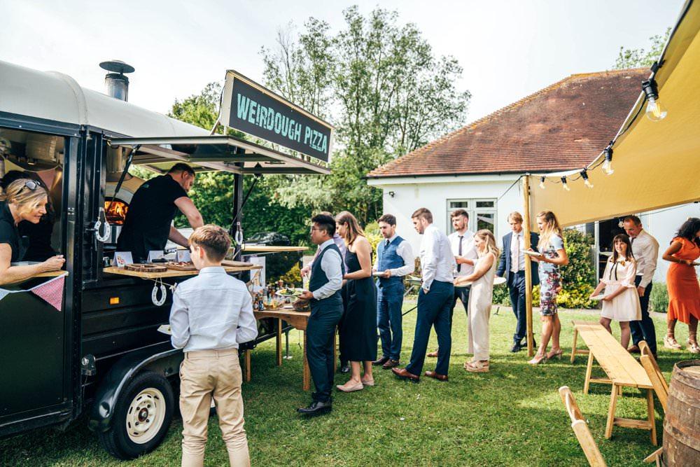 Pizza Truck Van Food Outdoor DIY Wedding Three Flowers Photography