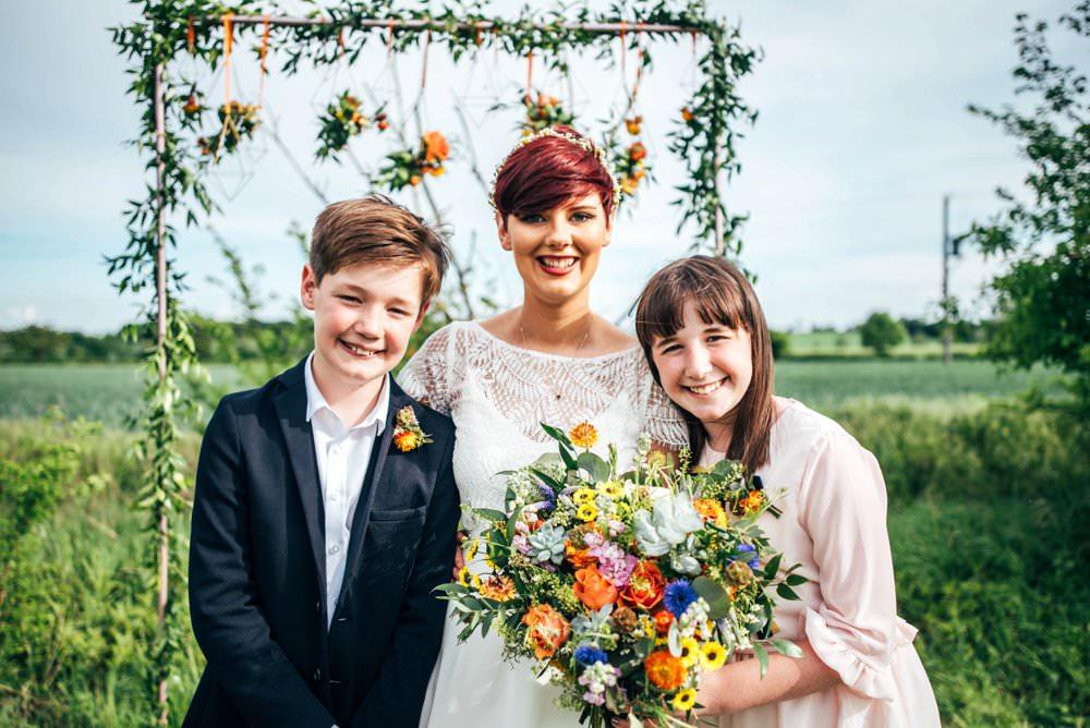 Outdoor DIY Wedding Three Flowers Photography