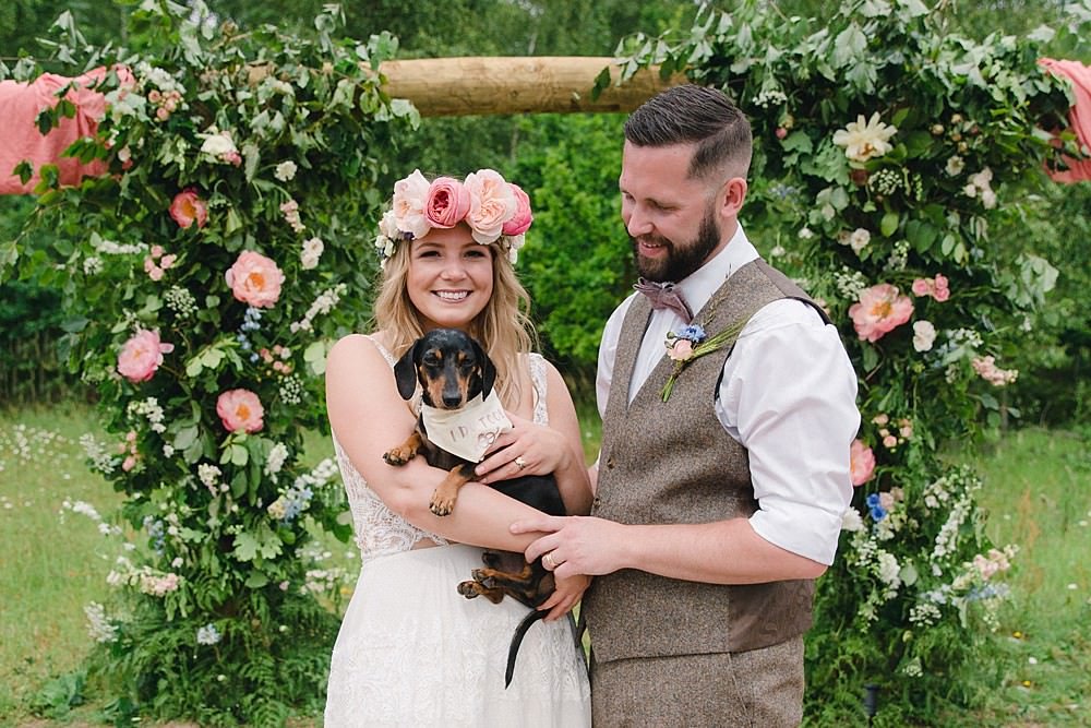 Ceremony Flowers Arch Aisle Meadow Wild Natural Flower Installation Pet Wedding Ideas Vicky Plum Photography