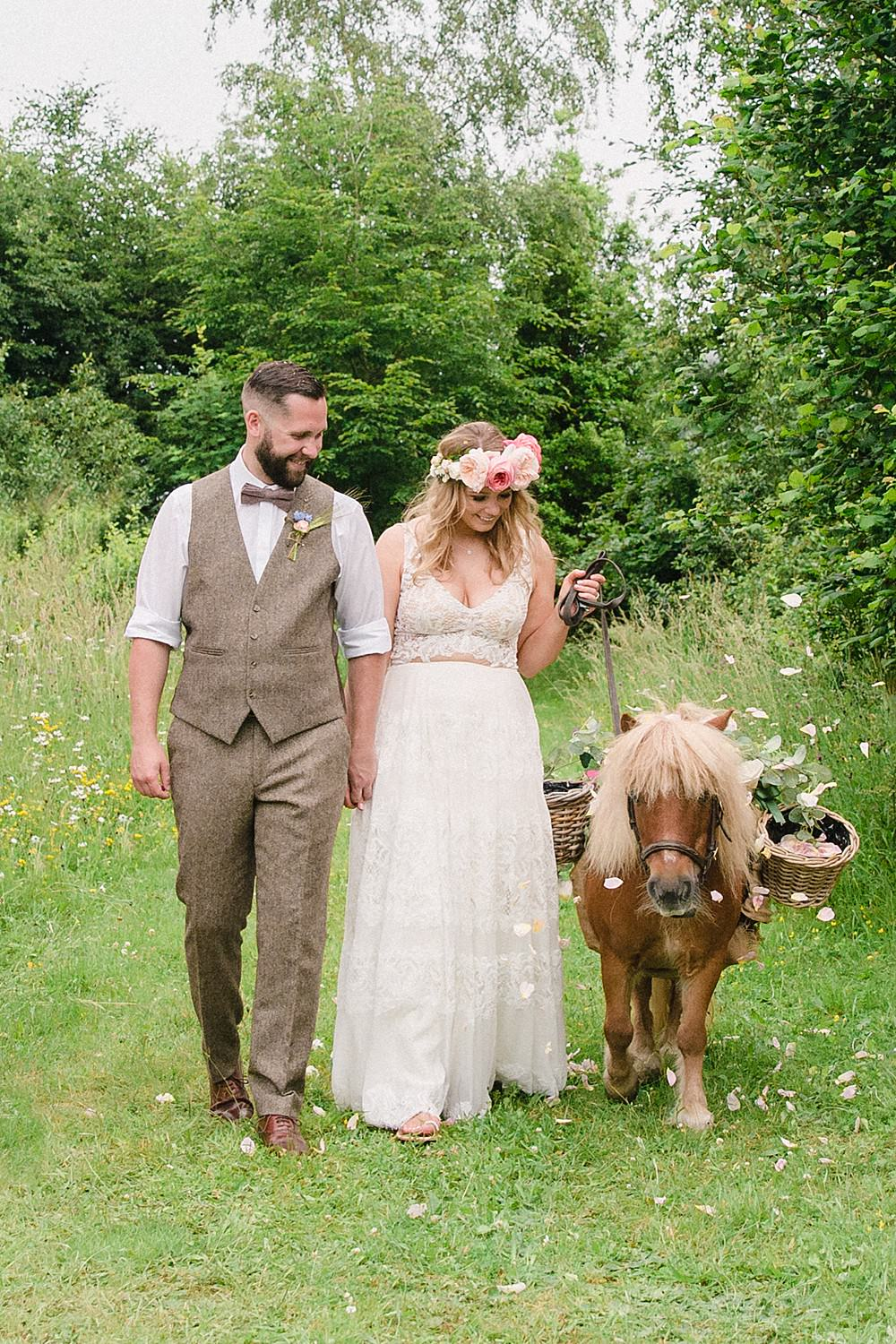 Shetland Pony Pet Wedding Ideas Vicky Plum Photography