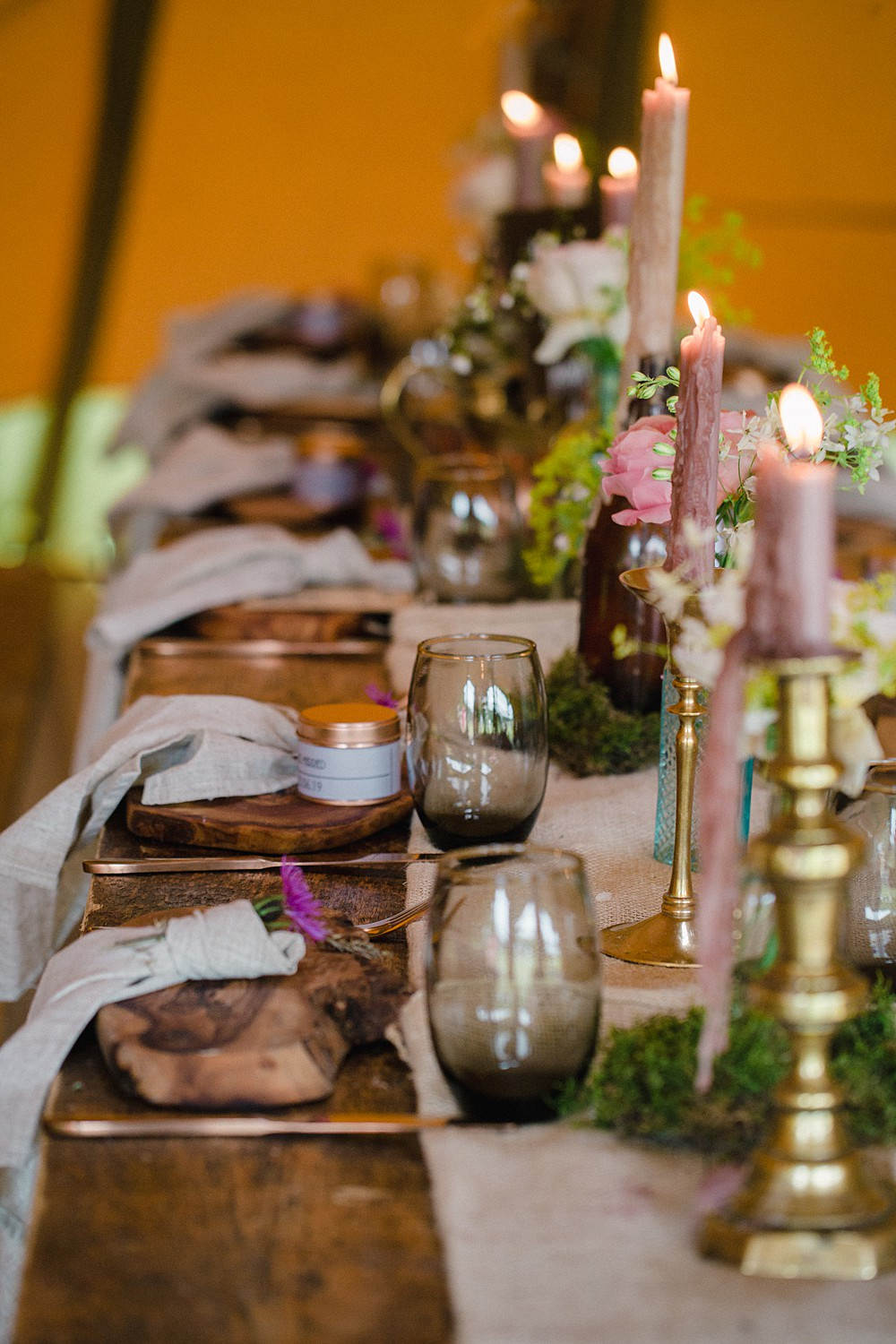 Table Tablescape Decor Decoration Candles Bottle Flowers Pet Wedding Ideas Vicky Plum Photography