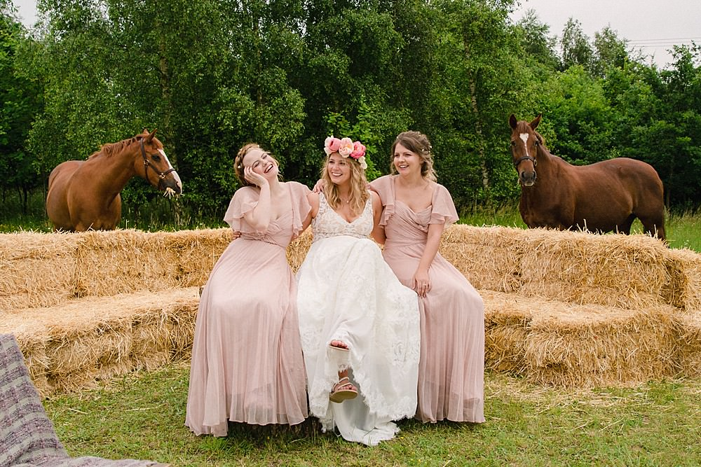 Bridesmaid Bridesmaids Dress Dresses Pink Pet Wedding Ideas Vicky Plum Photography