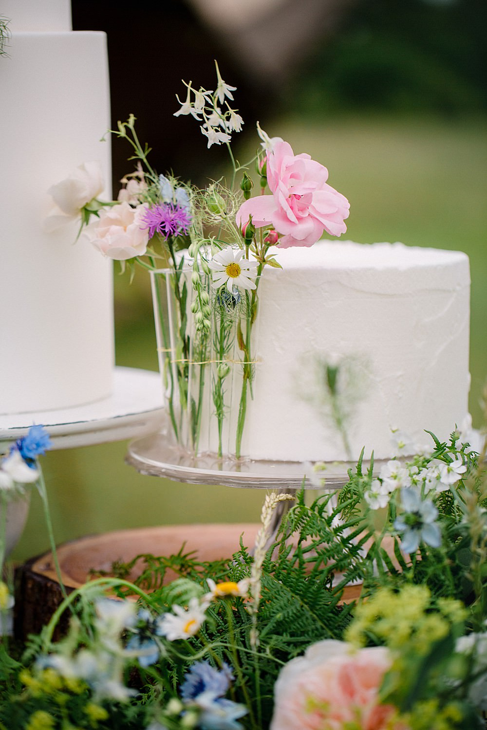 Iced Cake Test Tube Flowers Pretty Pet Wedding Ideas Vicky Plum Photography