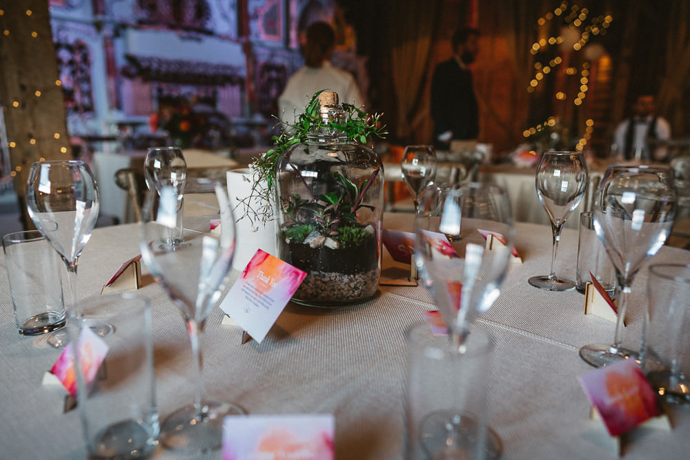 Terrarium Bottle Table Centre Preston Court Wedding The Last Of The Light