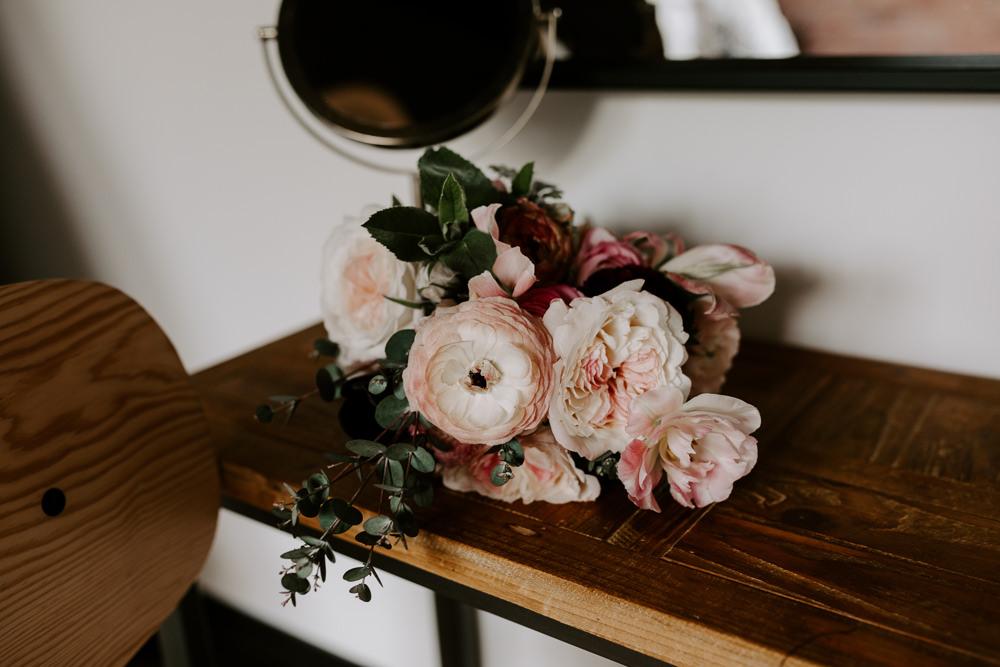 Pink Peony Blousy Blush Bride Bridal Bouquet Pumping House Wedding Jo Greenfield Photographer