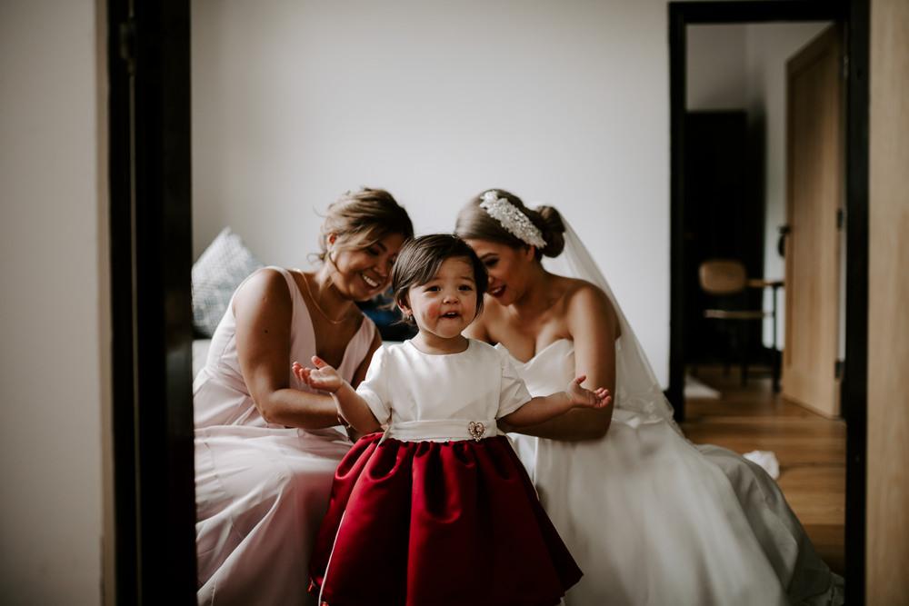 Flower Girl Crimson Red Dress Skirt Pumping House Wedding Jo Greenfield Photographer