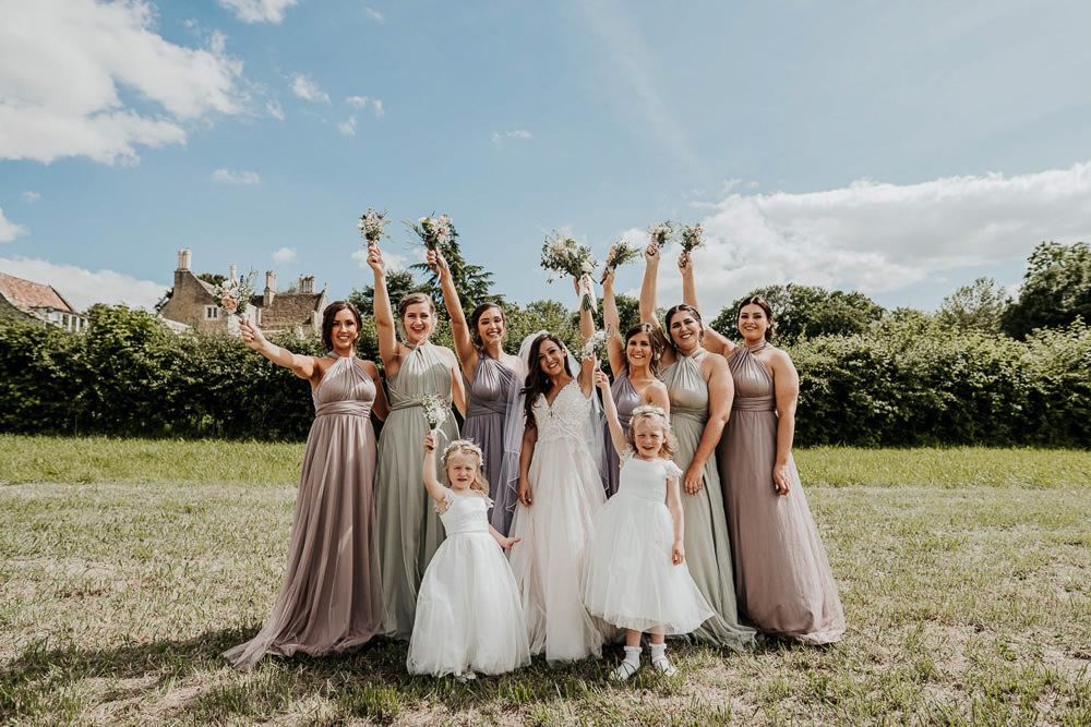 Bridesmaids Bridesmaid Dress Dresses Multiway Taupe Flower Girls Village Tipi Wedding Ryan Goold Photography