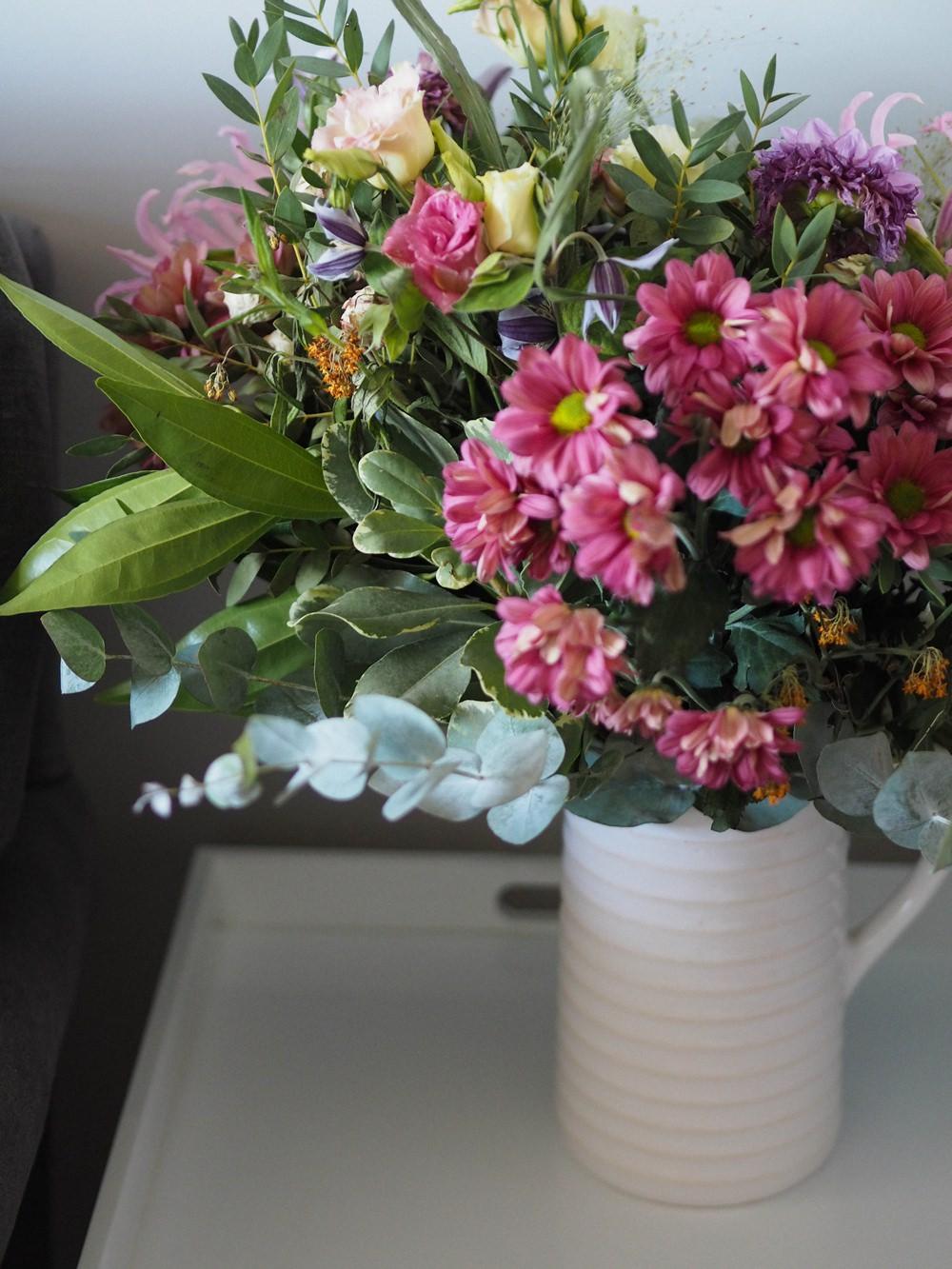 1930s House Living Room Renovation Flowers Jug Vase Side Table