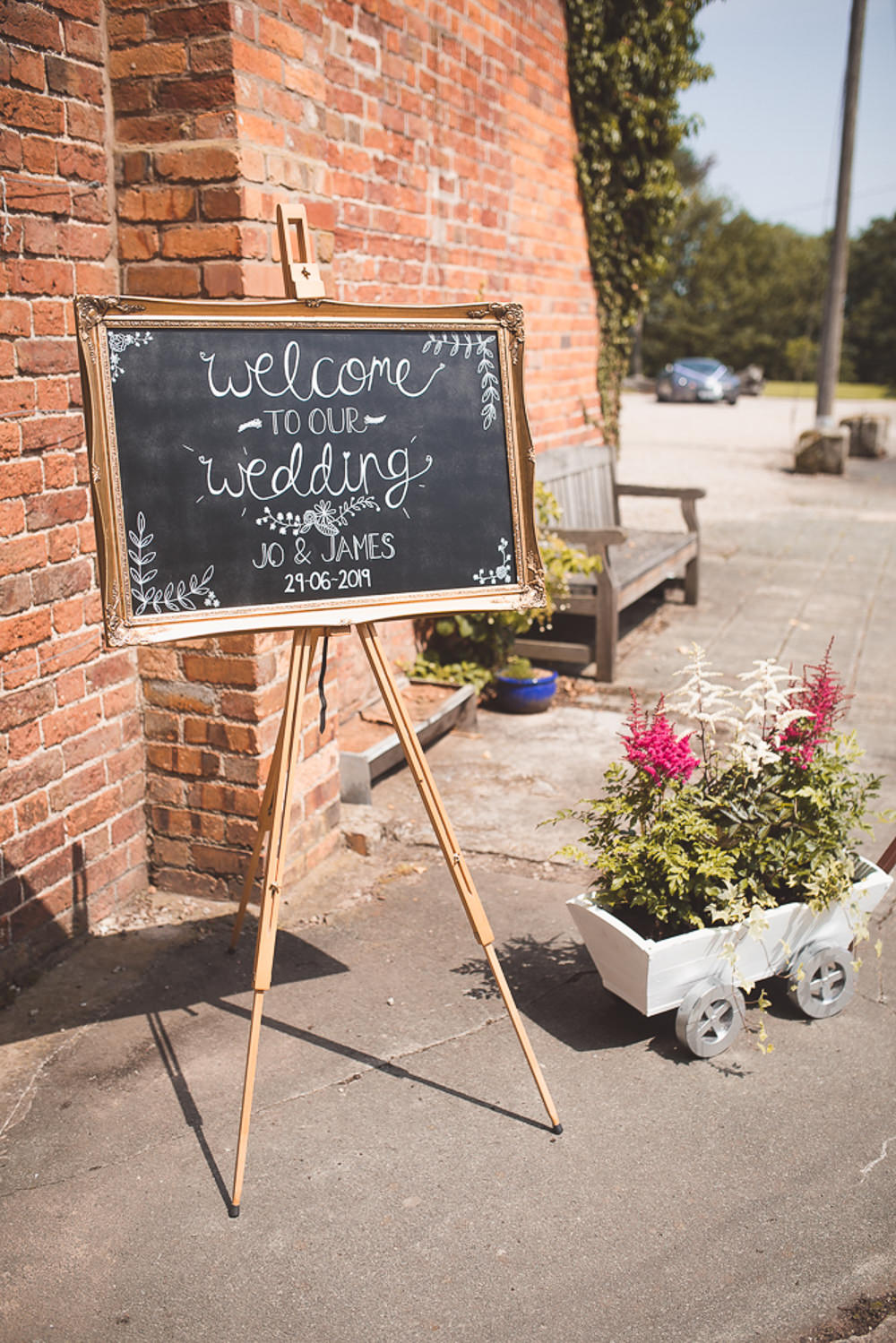 Welcome Sign Chalk Black Board Signage Signs Calligraphy Barn Wedding Shropshire Brightwing Photography