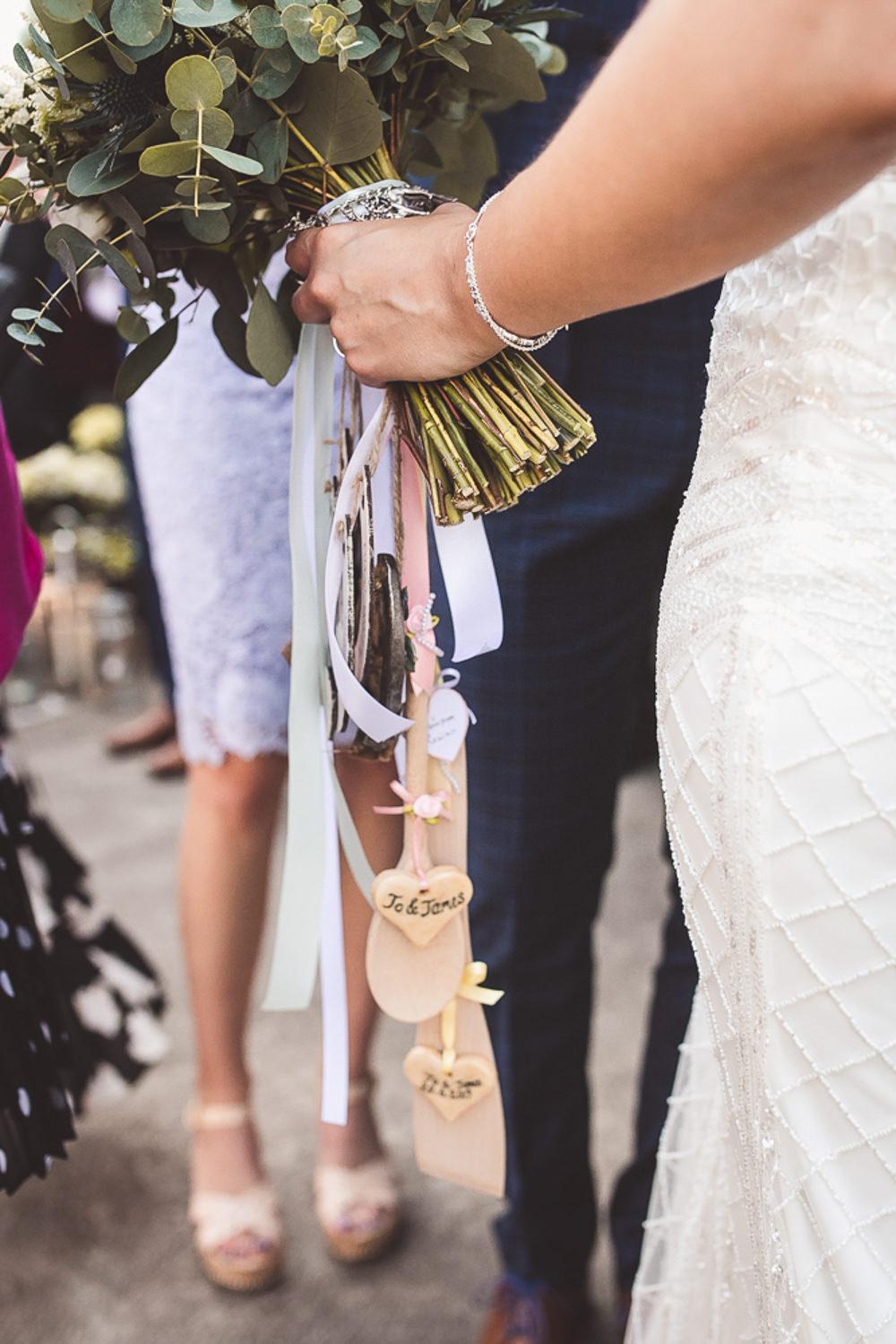 Bouquet Charms Bride Bridal Barn Wedding Shropshire Brightwing Photography