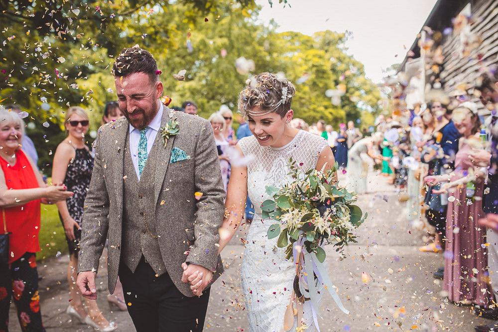 Confetti Barn Wedding Shropshire Brightwing Photography