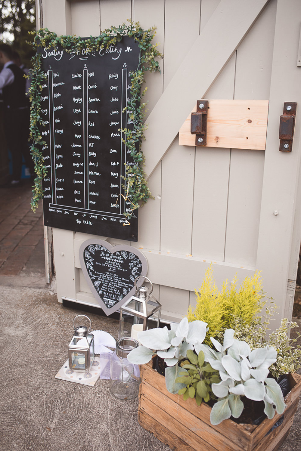 Black Board Chalk Seating Plan Table Chart Barn Wedding Shropshire Brightwing Photography