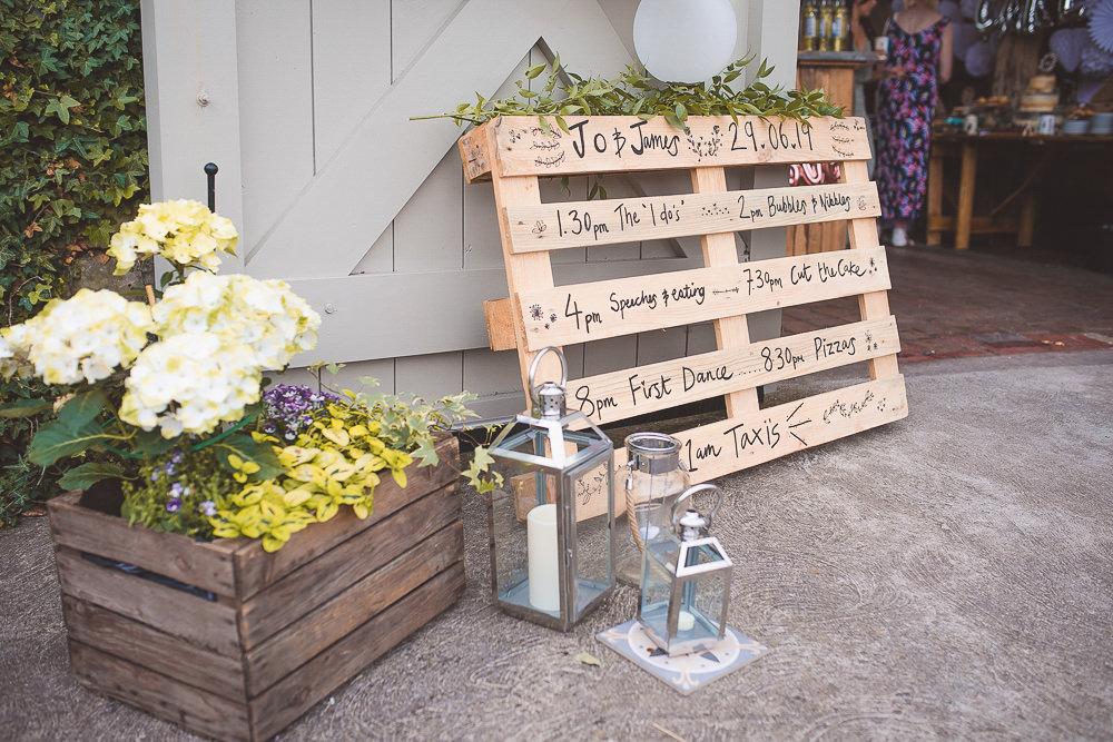 Woode Pallet Sign Signage Signs Hurricane Lanterns Barn Wedding Shropshire Brightwing Photography