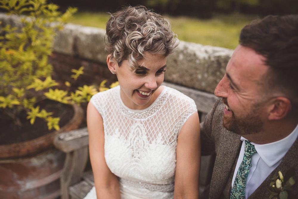 Bride Bridal Hair Style Short Cropped Barn Wedding Shropshire Brightwing Photography