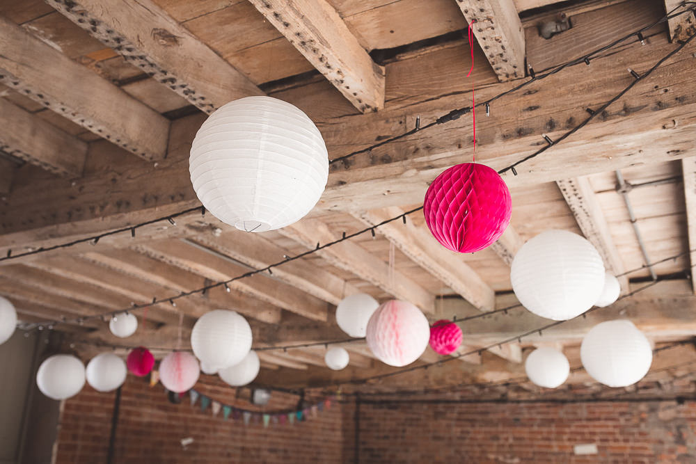Lanterms Decor Decoration Barn Wedding Shropshire Brightwing Photography