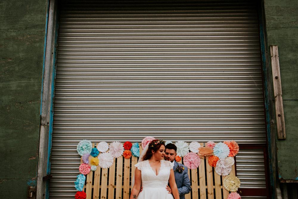 Bert's Barrow Wedding Shutter Go Click Photography Pinwheels Backdrop Wooden Pallet