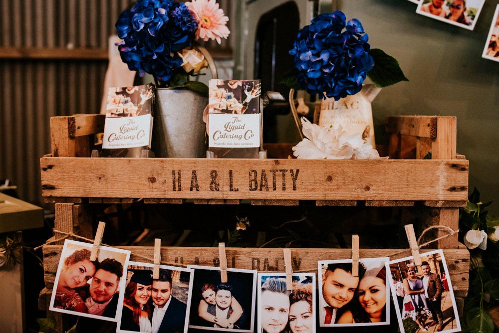 Polaroid Peg Crate Flowers Floral Bert's Barrow Wedding Shutter Go Click Photography