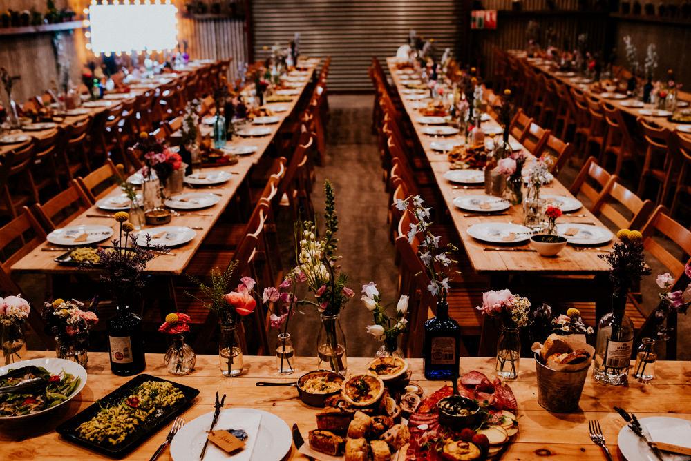 Top Table Gin Bottles Flowers Floral Bert's Barrow Wedding Shutter Go Click Photography