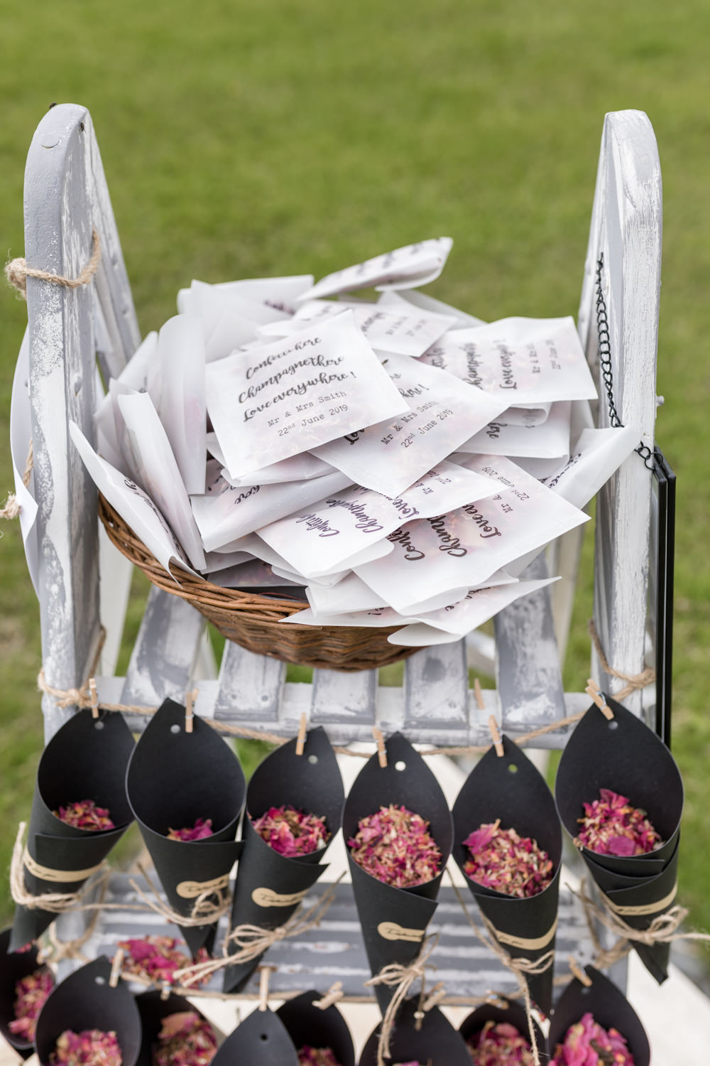 Confetti Bags Cones Botanical Barn Wedding Heather Jackson Photography