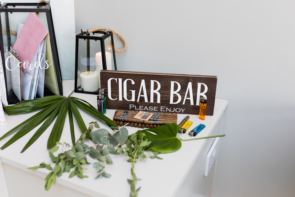 Cigar Bar Botanical Barn Wedding Heather Jackson Photography
