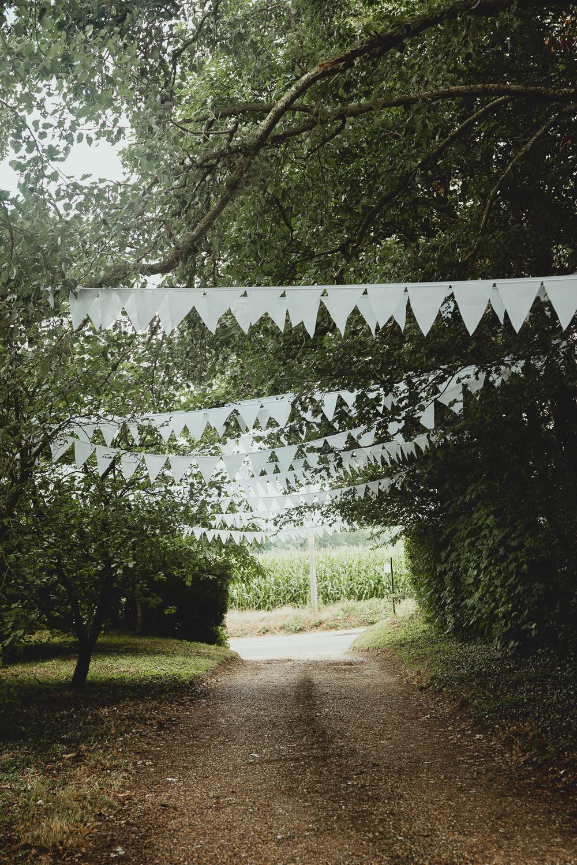 White Bunting British Countryside Wedding Georgia Rachael Photography