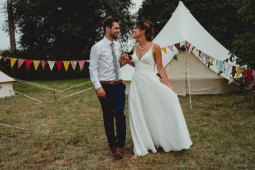 Modern Yet Traditional British Countryside Wedding