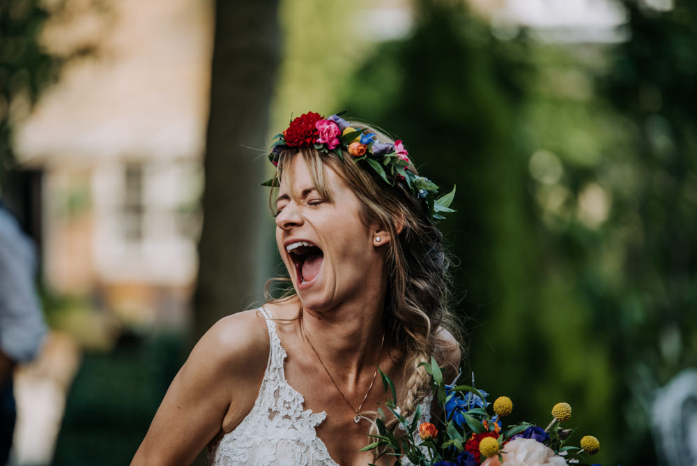 Bride Bridal Flower Crown Hair Style Up Do Braid Plait Cabourne Parva Wedding Kazooieloki Photography
