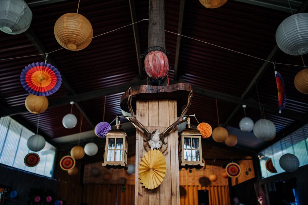 Pom Pom Lanterns Decor Cabourne Parva Wedding Kazooieloki Photography