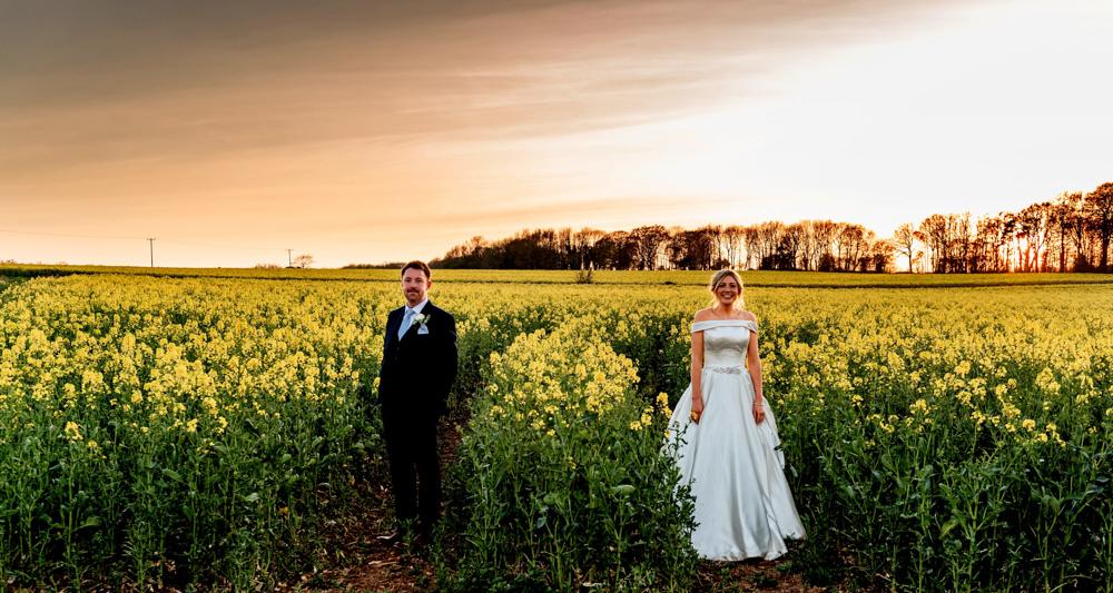 Bride Bridal Cold Shoulder Bardot A Line Dress Gown Blue Suit Groom Cotswolds Barn Wedding Lisa Carpenter Photography