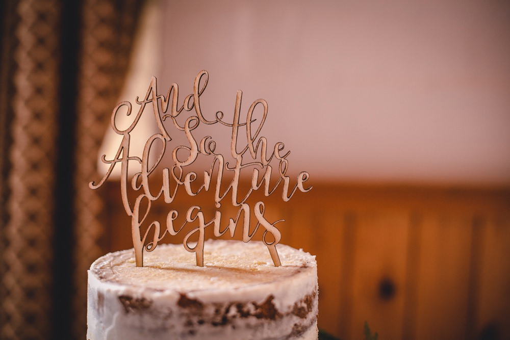Cake Topper And So the Adventure Begins DIY Bohemian Wedding Love & Bloom Photography