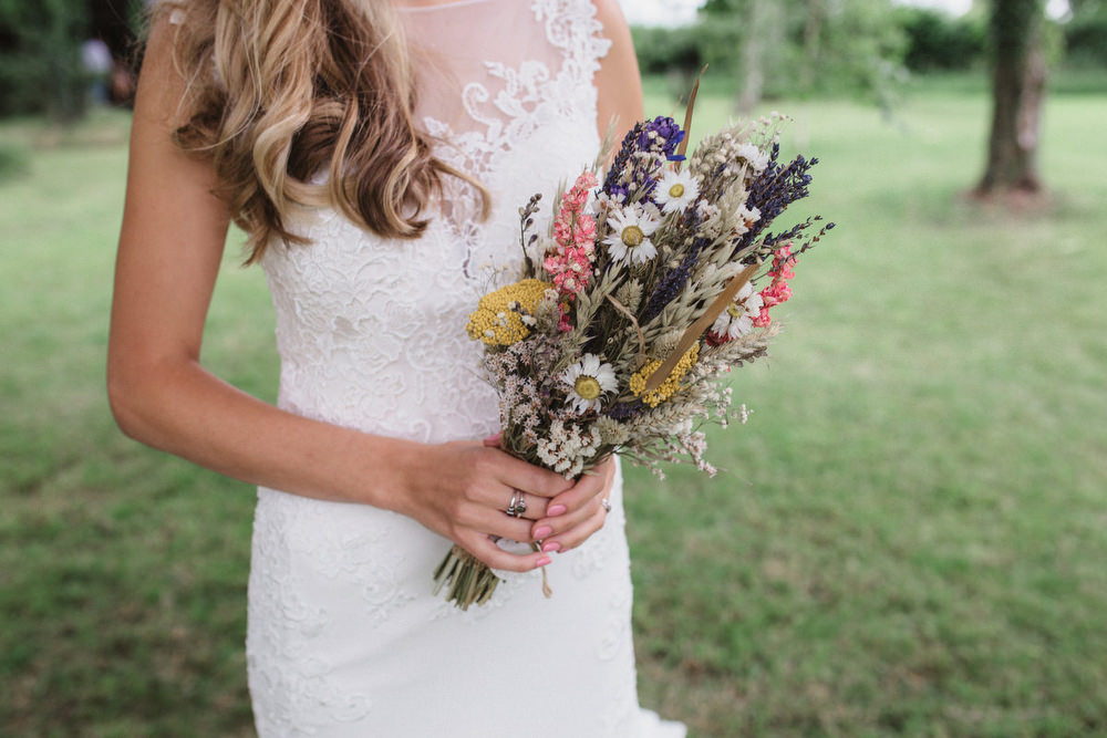 Bouquet Flowers Bride Bridal Dried Flowers Wedding Emily Tyler Photography
