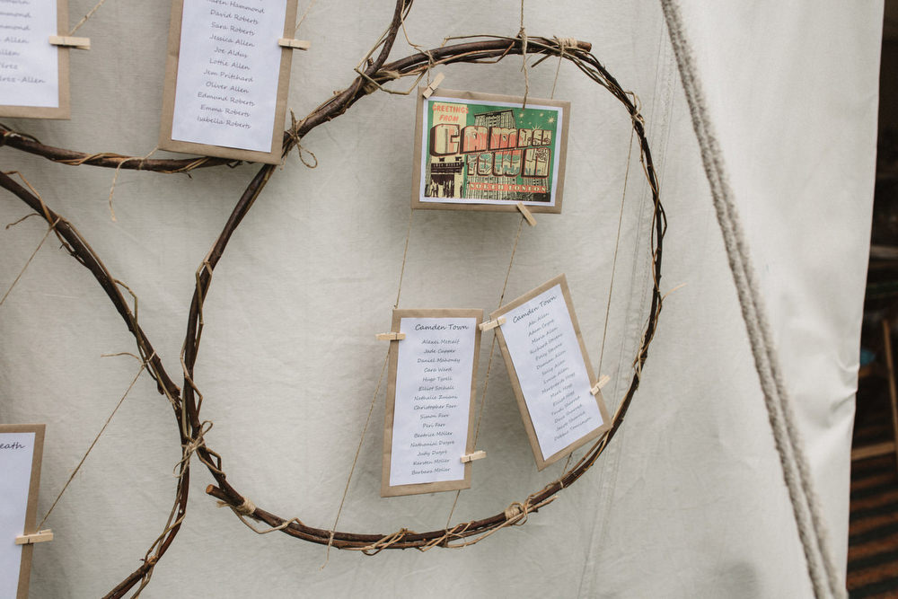 Hoop Seating Plan Table Chart Dried Flowers Wedding Emily Tyler Photography