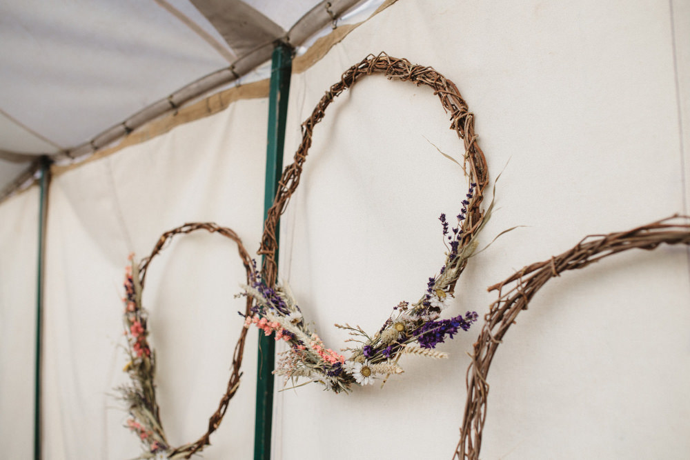 Hoop Decor Dried Flowers Wedding Emily Tyler Photography