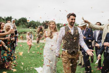 Confetti Dried Flowers Wedding Emily Tyler Photography