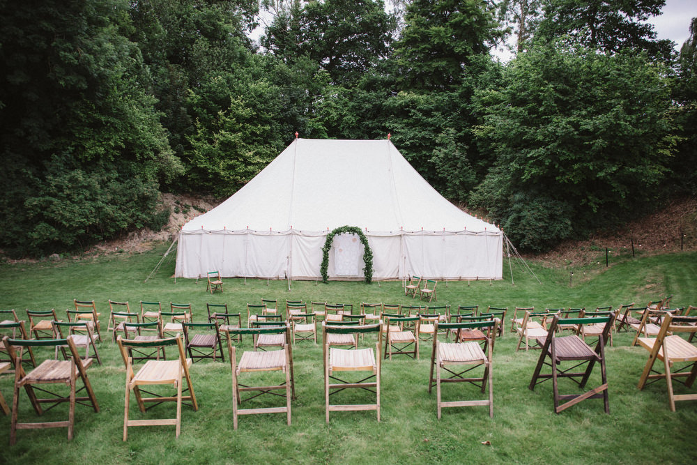 Marquee Outdoor Ceremony Dried Flowers Wedding Emily Tyler Photography